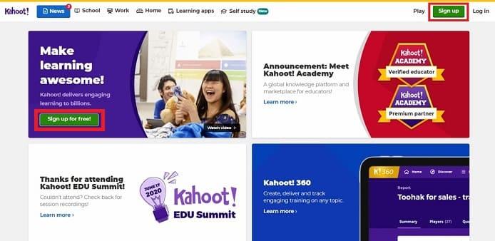 Kahoot! 画面イメージ