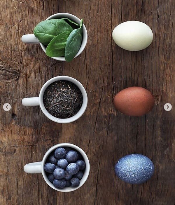 clored eggs